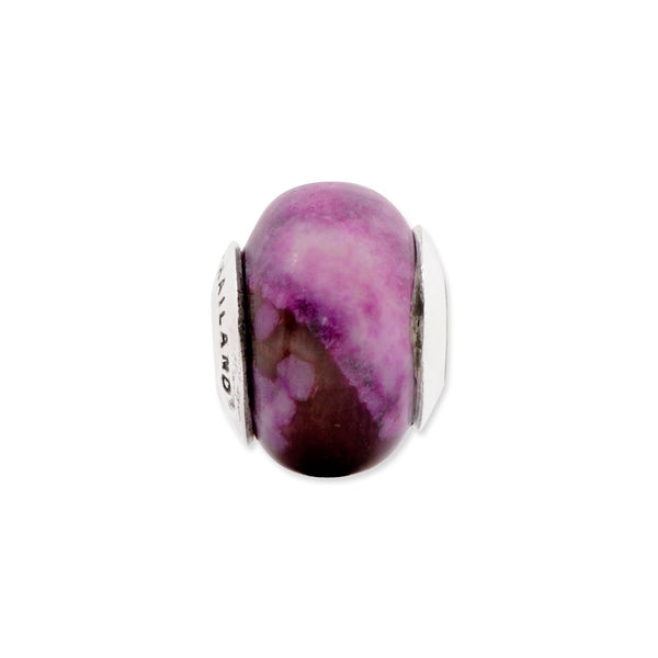 Sterling Silver Reflections Purple Magnesite Stone Bead