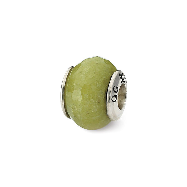 Sterling Silver Reflections Apple Green Quartz Stone Bead