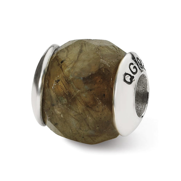Sterling Silver Reflections Labradorite Stone Bead