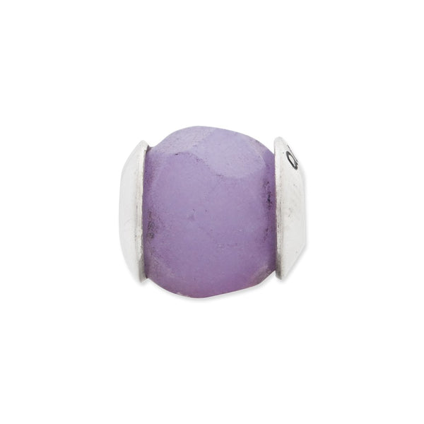 Sterling Silver Reflections Lavender Quartz Stone Bead