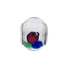 Load image into Gallery viewer, Sterling Silver Reflections White/Blue/Green/Red Italian Murano Bead