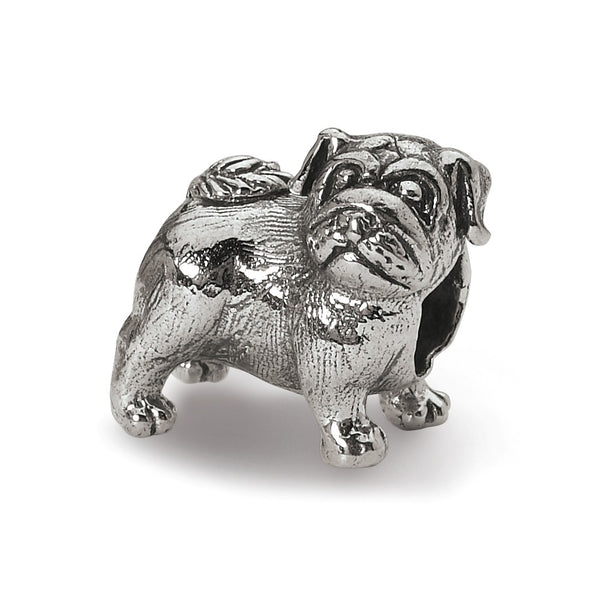 Sterling Silver Reflections Pug Bead