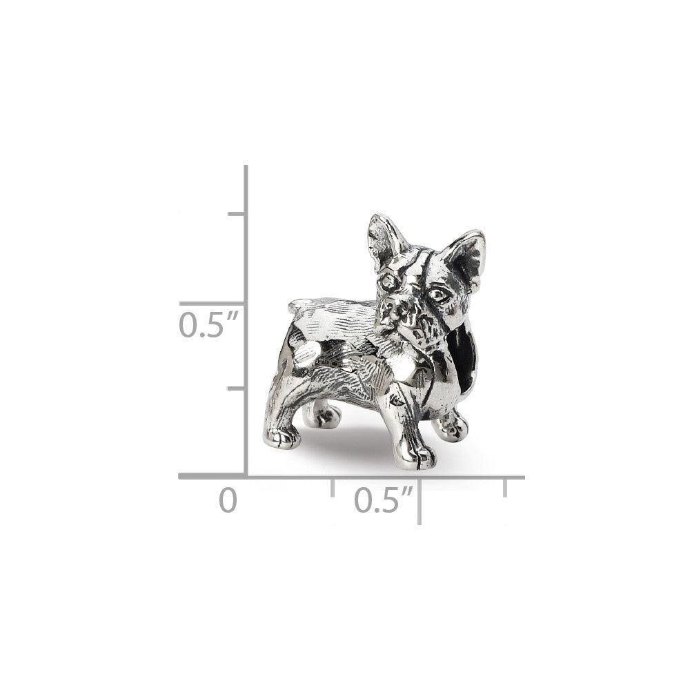 Sterling Silver Reflections Boston Terrier Bead