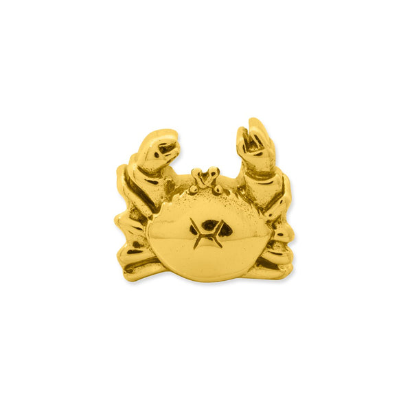 Sterling Silver Gold-plated Reflections Crab Bead