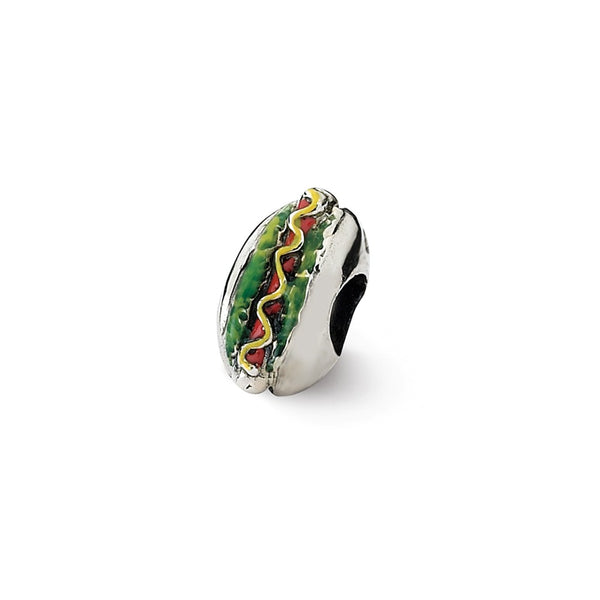 Sterling Silver Reflections Enameled Hot Dog Bead