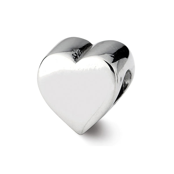 Sterling Silver Reflections Heart Shape Bead