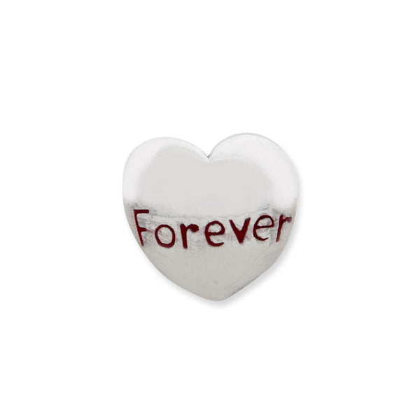 Sterling Silver Reflections Enameled Forever Heart Bead