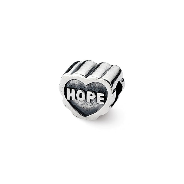 Sterling Silver Reflections Hope Heart Bead