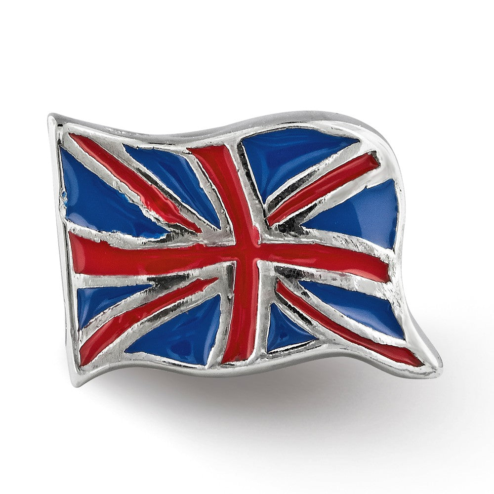 Sterling Silver Reflections Enameled United Kingdom Flag Bead