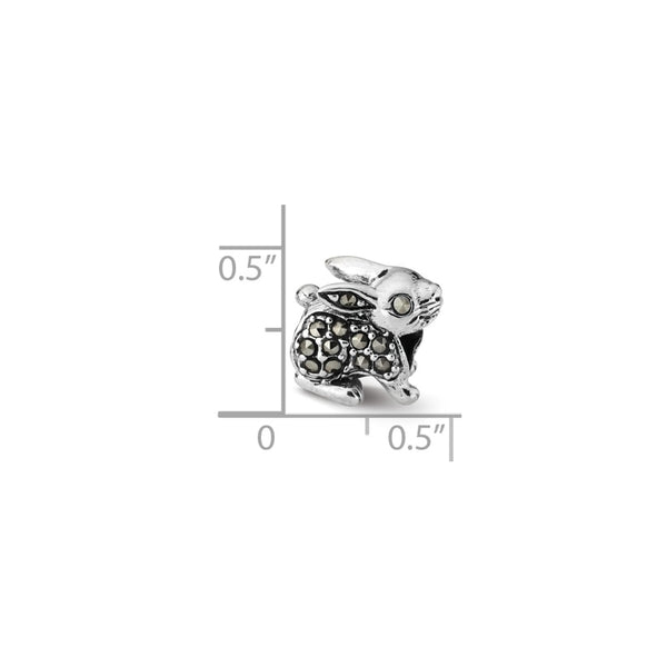 Sterling Silver Reflections Marcasite Rabbit Bead