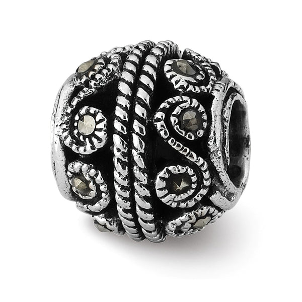 Sterling Silver Reflections Marcasite Bali Bead