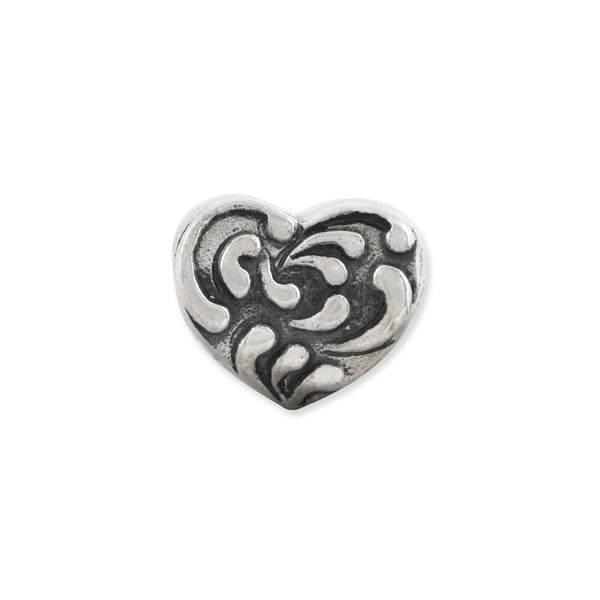 Sterling Silver Reflections Scroll Heart Bead