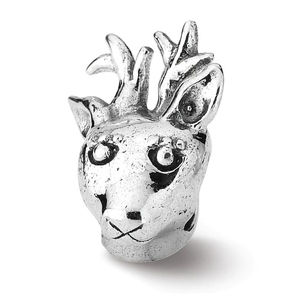 Sterling Silver Reflections Reindeer Bead