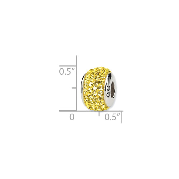Sterling Silver Reflections Gold Full Swarovski Crystal Bead