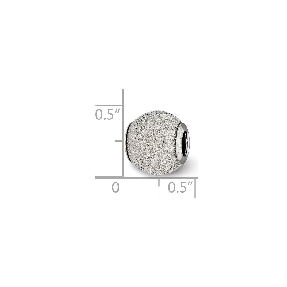Sterling Silver Reflections Light Grey Laser Cut Bead