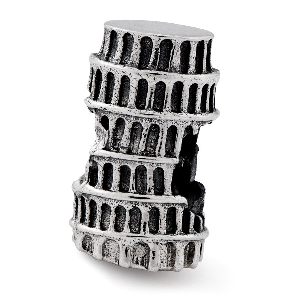 Sterling Silver Reflections Leaning Tower of Pisa Bead