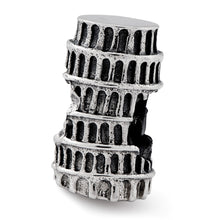 Load image into Gallery viewer, Sterling Silver Reflections Leaning Tower of Pisa Bead