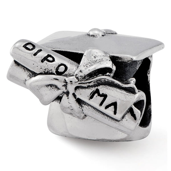 Sterling Silver Reflections Graduation Cap & Diploma Bead