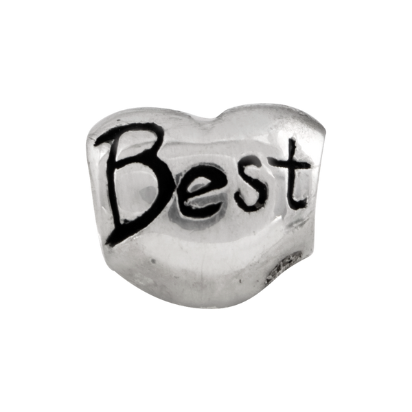 Sterling Silver Reflections Kids Best Friend Heart Bead