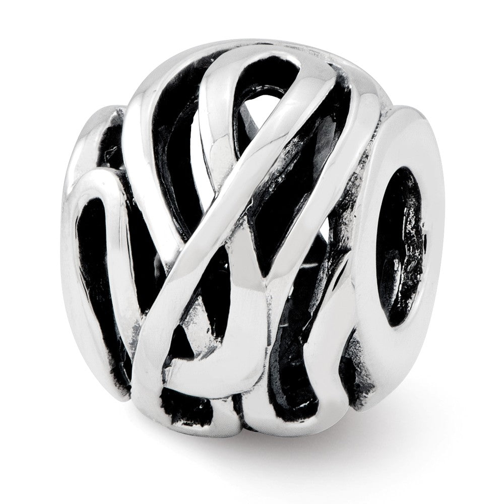 Sterling Silver Reflections Fancy Swirl Bali Bead