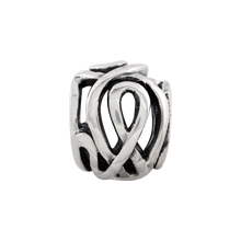 Load image into Gallery viewer, Sterling Silver Reflections Fancy Swirl Bali Bead