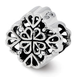 Sterling Silver Reflections Four Leaf Clover Bali Bead