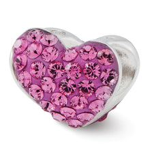 Load image into Gallery viewer, Sterling Silver Reflections Pink Swarovski Crystal Heart Bead