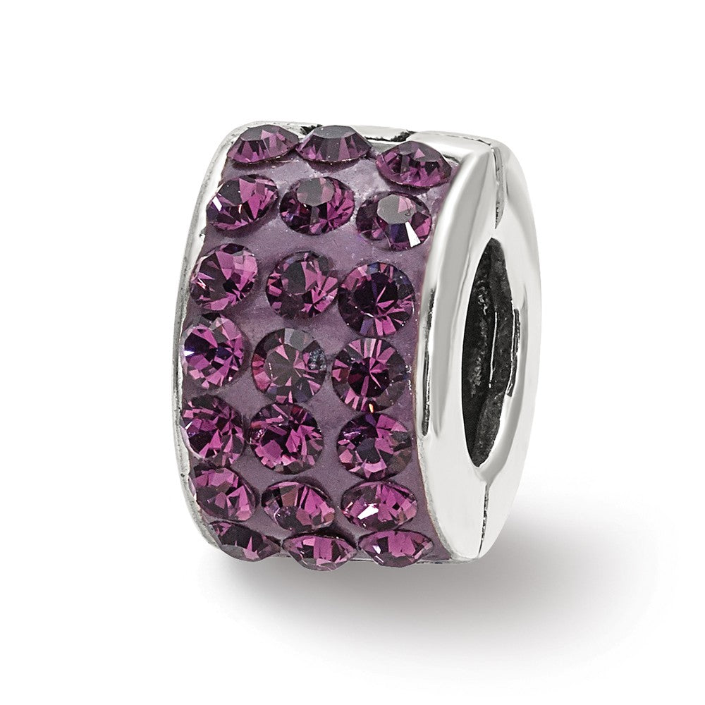 Sterling Silver Reflections Purple Swarovski Crystal Bead