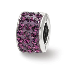 Load image into Gallery viewer, Sterling Silver Reflections Purple Swarovski Crystal Bead