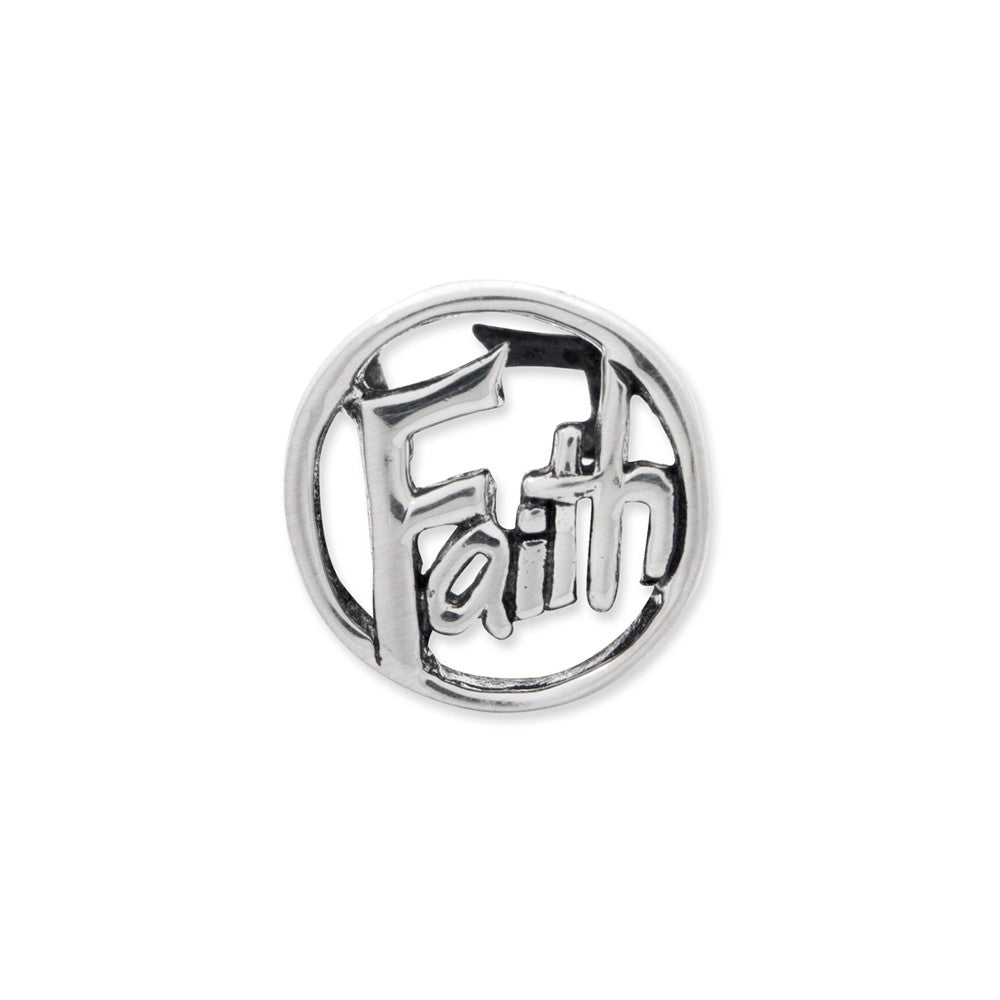 Sterling Silver Reflections Faith Bead