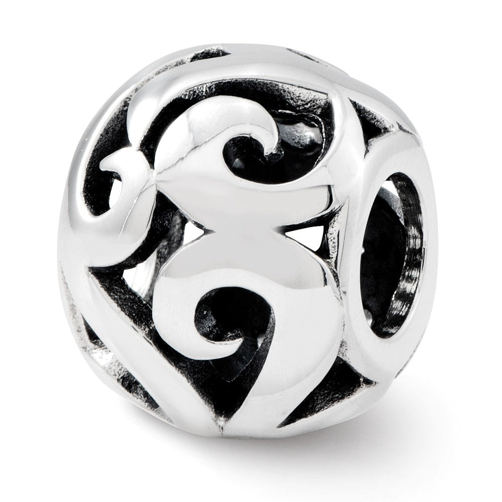 Sterling Silver Reflections Swirl Bali Bead