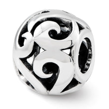 Load image into Gallery viewer, Sterling Silver Reflections Swirl Bali Bead