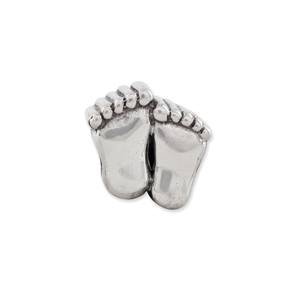 Sterling Silver Reflections Feet Bead