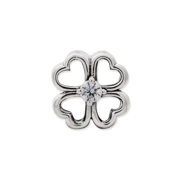 Sterling Silver Reflections Four Leaf Clover w/ CZ Bead