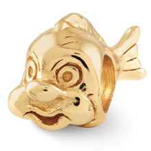 Load image into Gallery viewer, Sterling Silver Gold-plated Reflections Fish Bead