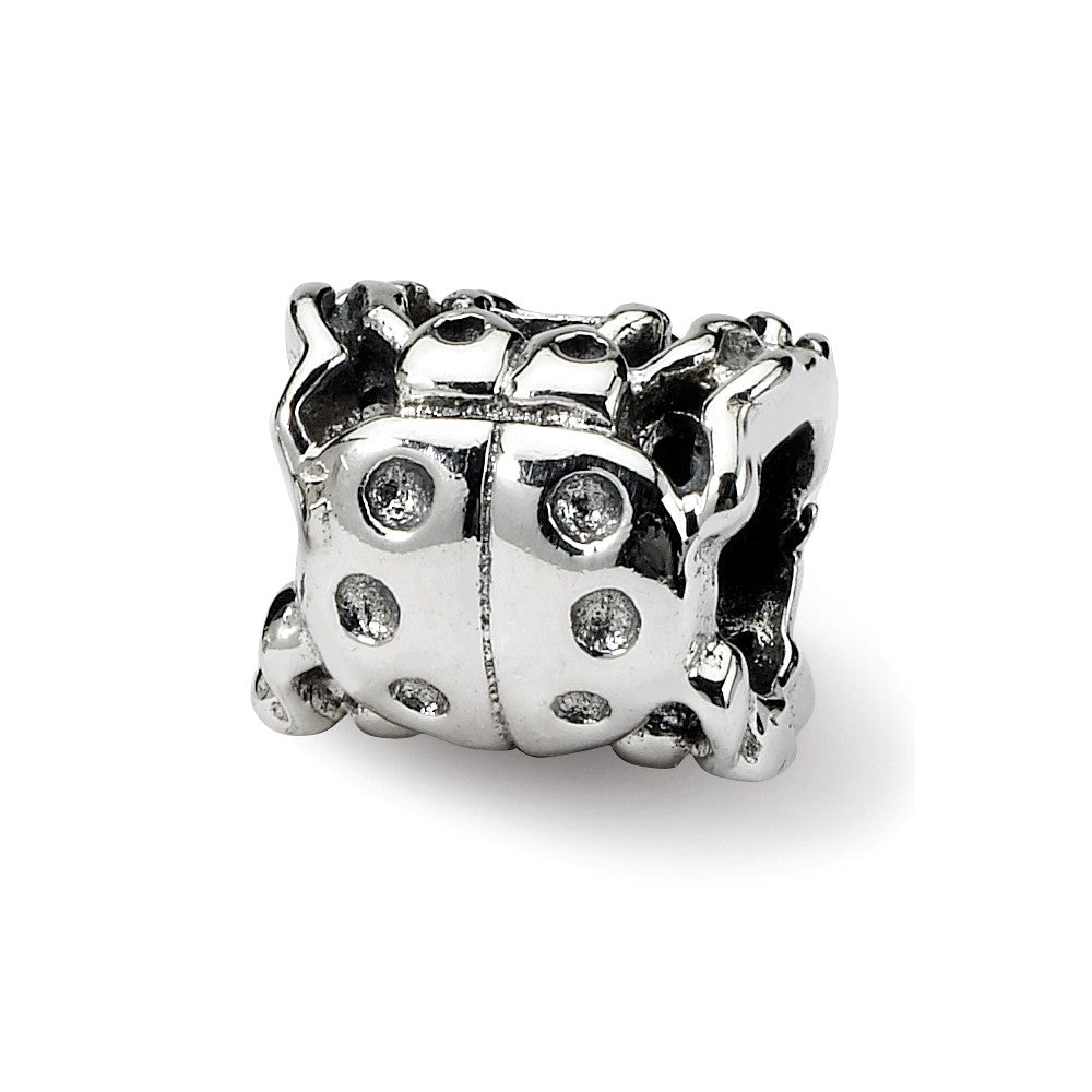 Sterling Silver Reflections Ladybug Bead