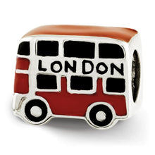Load image into Gallery viewer, Sterling Silver Reflections Enamel London Double Decker Bus Bead