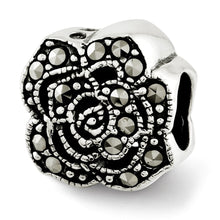 Load image into Gallery viewer, Sterling Silver Reflections Marcasite Flower Bead