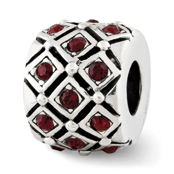 Sterling Silver Reflections January Swarovski Crystal Bead