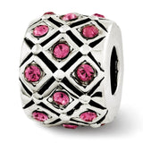 Sterling Silver Reflections October Swarovski Crystal Bead