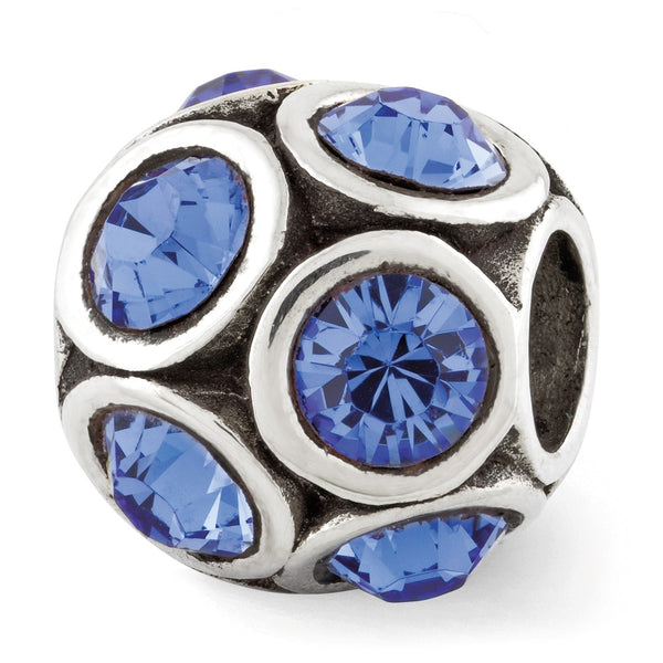 Sterling Silver Reflections September Swarovski Crystal Bead