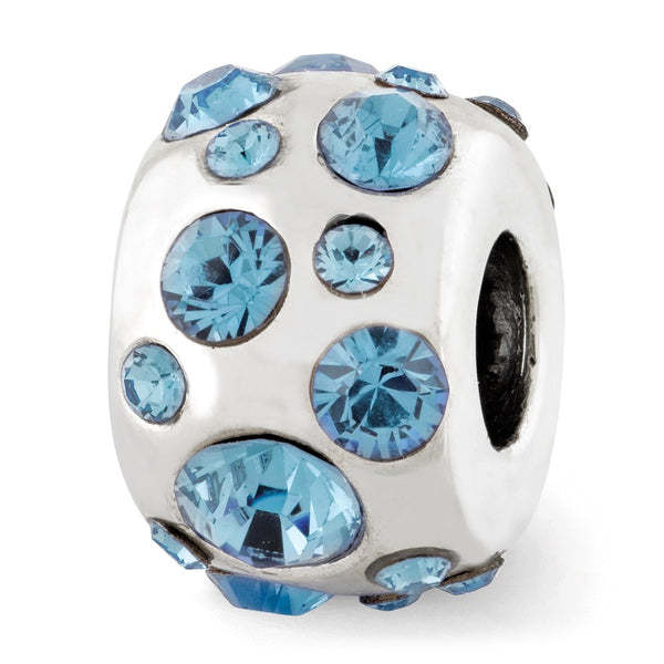 Sterling Silver Reflections March Swarovski Crystal Bead