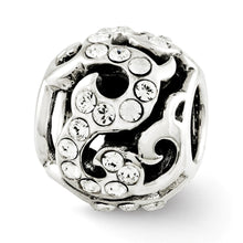Load image into Gallery viewer, Sterling Silver Reflections Swarovski Crystal Swirl Bead
