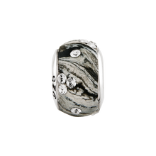 Load image into Gallery viewer, Sterling Silver Reflections Grey Molded w/Swarovski Crystal Bead
