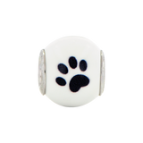 Sterling Silver Reflections Enameled Dog Theme Bead