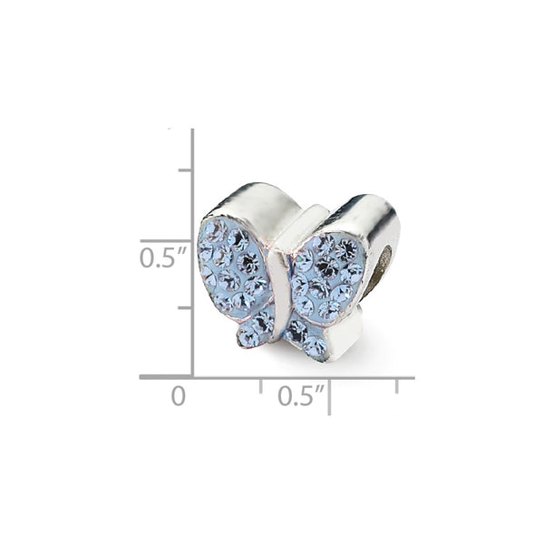 Sterling Silver Reflections Blue Swarovski Butterfly Bead