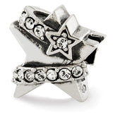 Sterling Silver Reflections Star w/Swarovski Crystal Bead
