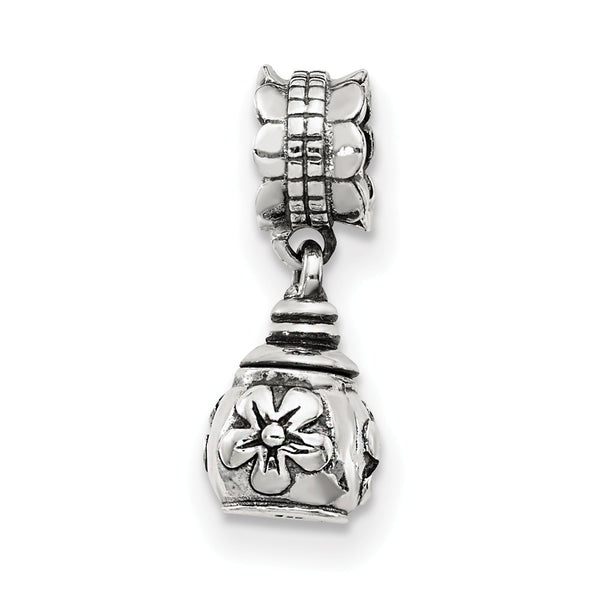 Sterling Silver Reflections Floral Ash Dangle Bead