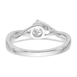 14K White Gold Diamond Semi-Mount Promise/Engagement Ring