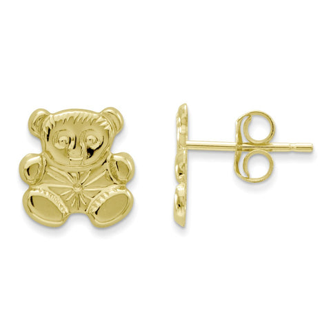 14k Madi K  Polished Teddy Bear Earrings